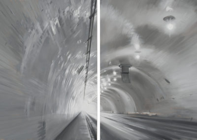 2nd Street Tunnel (diptych)