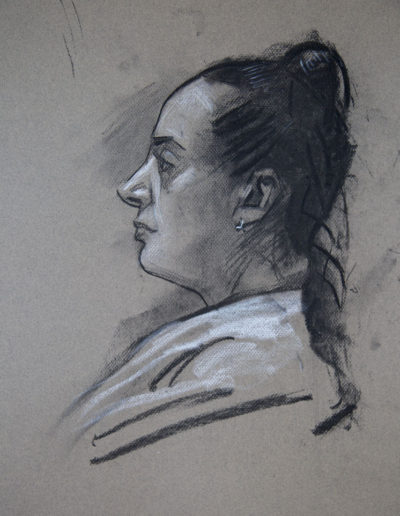 Study of a Head in Profile